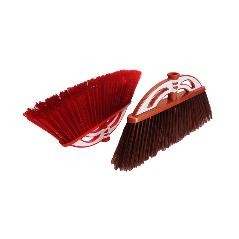 household corn broom with wooden handle from plastic broom factory
