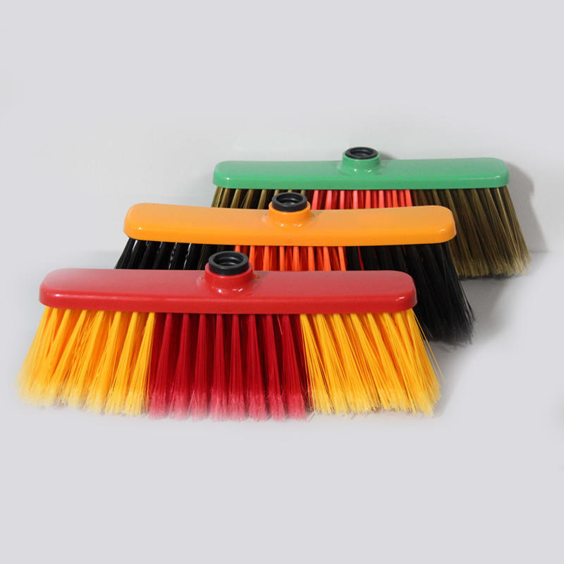 Factory Wholesale Long Hard Bristle PP Upright Broom