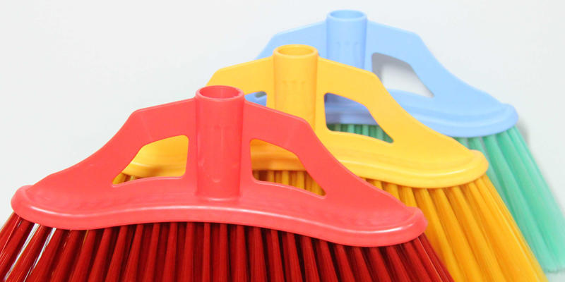 Clover Household hot selling floor scrub brush with long handle set for household