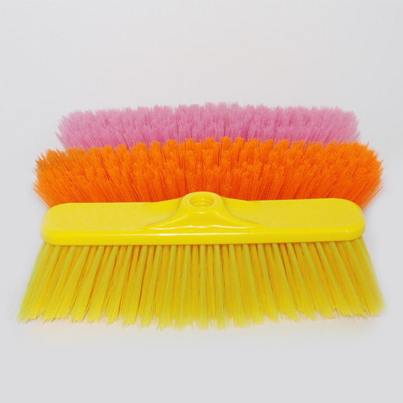 Clear PET Bristle Outdoor Plastic Broom Escoba