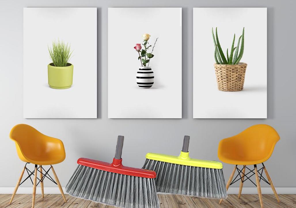 Clover Household head outdoor broom design for kitchen-1