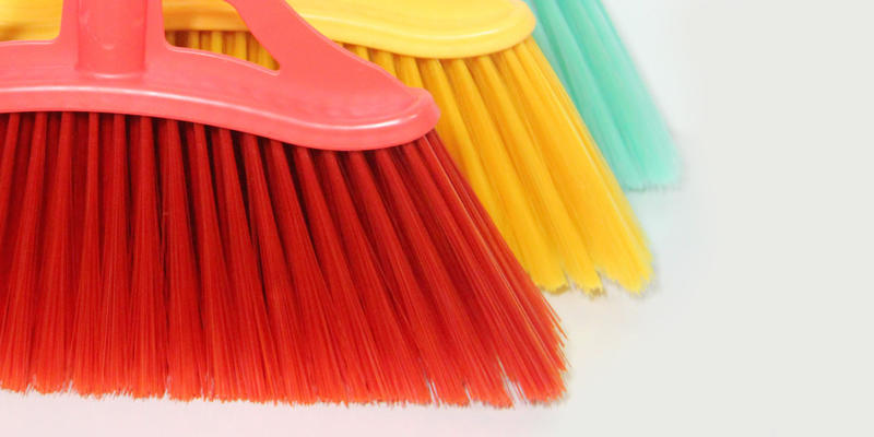 Clover Household hot selling floor scrub brush with long handle set for household-3