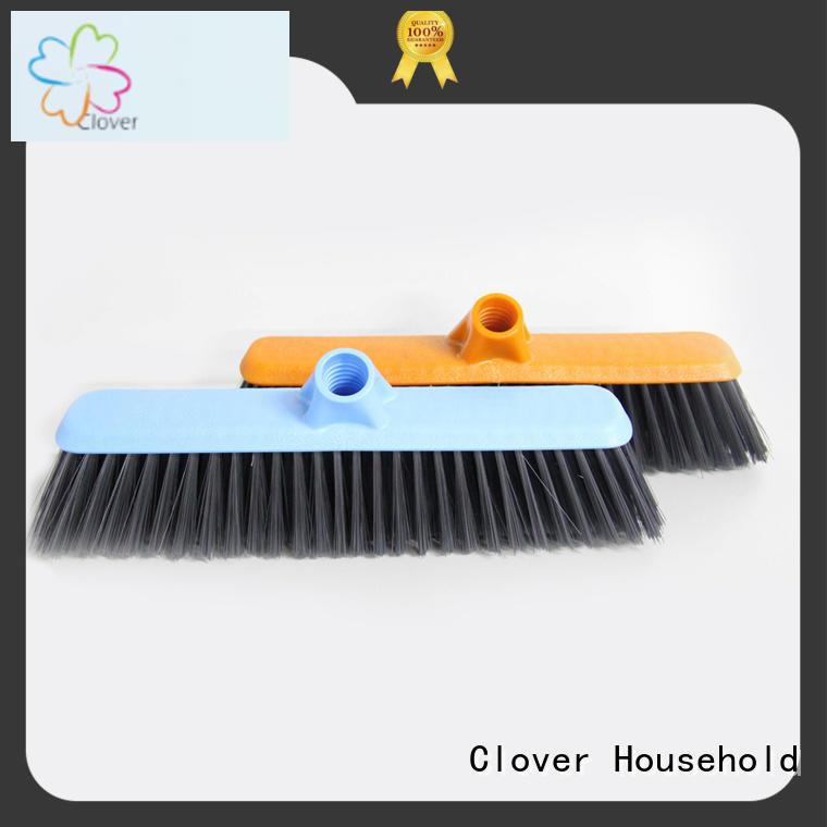 Clover Household hot selling hard bristle broom set for bedroom