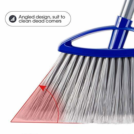 Deluxe Angle Broom With PVC Coated Wooden Handle