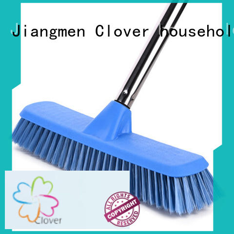 practical floor cleaning brush with handle straight set for household