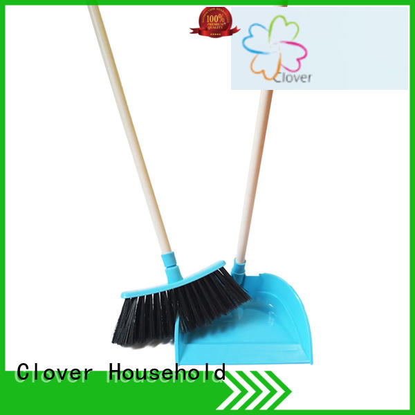 Clover Household soft long dustpan and brush wholesale for kitchen