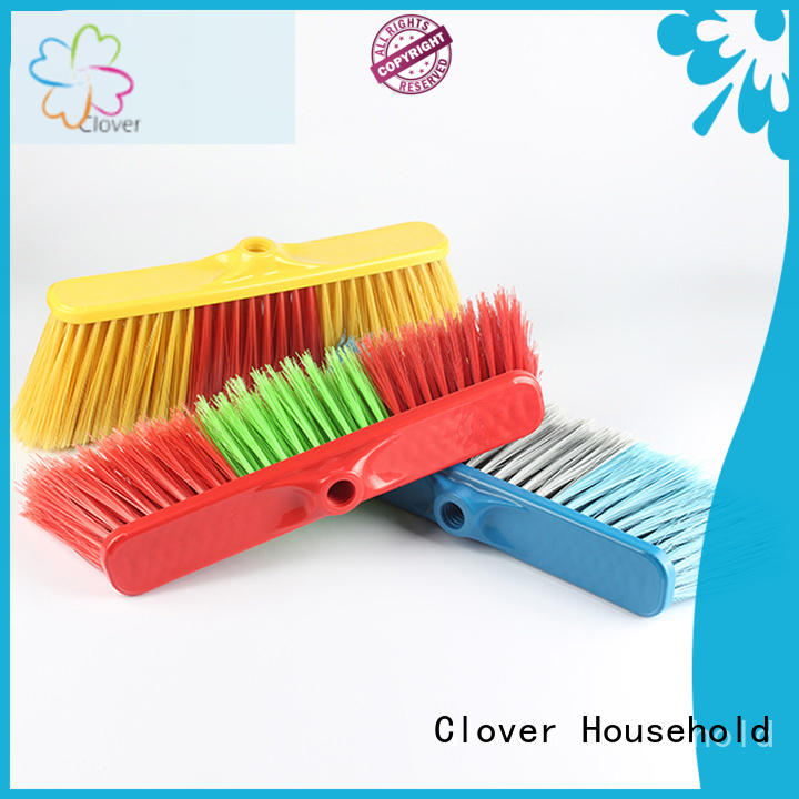 Clover Household Latest floor scrub brush with long handle design for kitchen