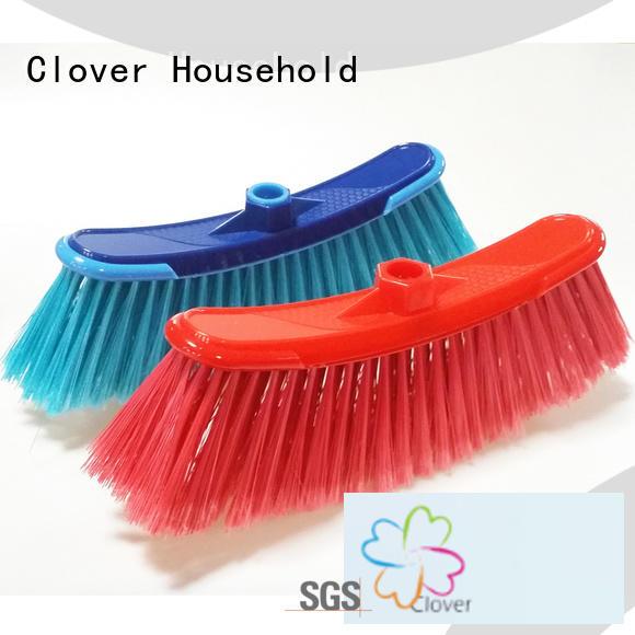 Clover Household floor hard brush broom factory for bathroom